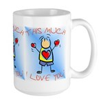 I Love You This Much (v4) Large Mug