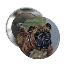"Bulldog Art 2.25"" Button"