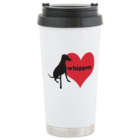 Whippet Love - Ceramic Travel Mug