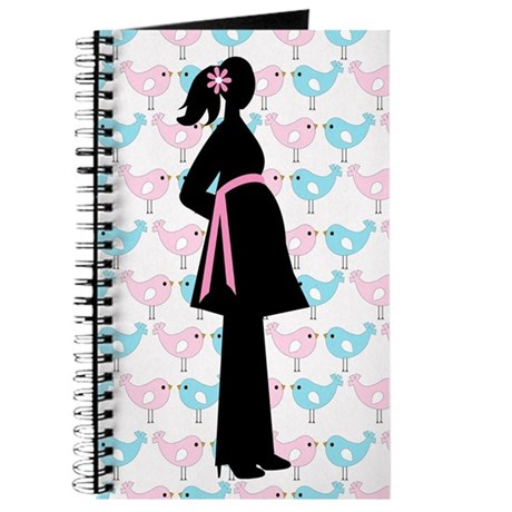Pink and Blue Birds Baby Journal Gift