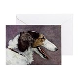 Borzoi Greeting Card