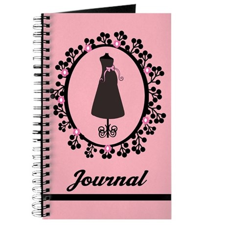 Pink Silhouette Pregnancy Journal