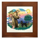 St Francis #2 / PWD (stand) Framed Tile