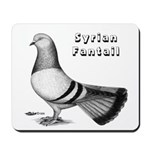 Syrian Fantail Pigeon Mousepad