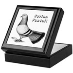 Syrian Fantail Pigeon Keepsake Box