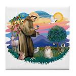 St Francis #2 / Pomeranian (#1) Tile Coaster