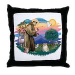 St Francis #2 / Pomeranian (#1) Throw Pillow