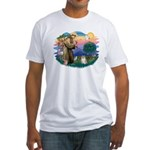 St Francis #2 / Pomeranian (#1) Fitted T-Shirt