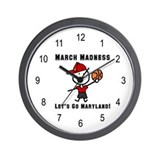 March Madness UMD Wall Clock