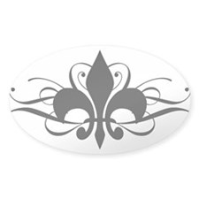 Fleur De Lis with Swirls Bumper Stickers