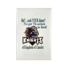 Lady Knight Refrigerator Magnet