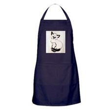 Siamese Cat Art Apron (dark)