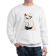 Siamese Cat Art Sweatshirt