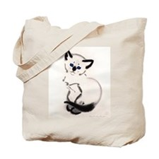 Siamese Cat Art Tote Bag