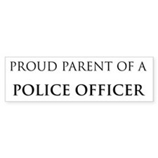 Proud Parent: Police Officer Bumper Bumper Sticker