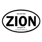 Zion Oval Bumper Stickers