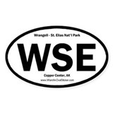 Wrangell-St. Elias Oval Decal