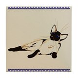 Laid Back Siamese Tile Coaster