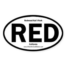 Redwood Oval Decal