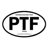 Petrified Forest Oval Decal