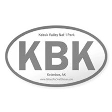 Kobuk Valley Oval Decal