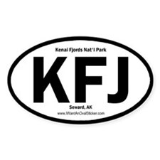 Kenai Fjords Oval Decal