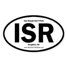 Isle Royale Oval Decal