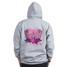 Twilight Eclipse Pink Heart Zip Hoodie
