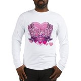 Twilight Eclipse Pink Heart Long Sleeve T-Shirt