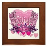 Twilight Eclipse Pink Heart Framed Tile