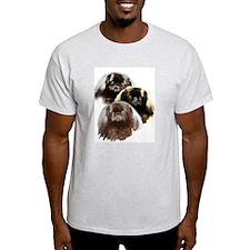 pekingese group Ash Grey T-Shirt