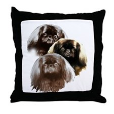 pekingese group Throw Pillow
