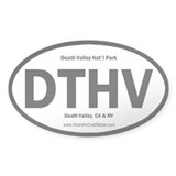 Death Valley Oval Decal