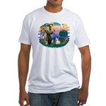 St Francis #2/ Fr Bulldog (f) Fitted T-Shirt
