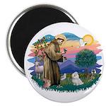 St Francis #2 / Maltese (#7) Magnet