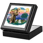 St Francis #2 / Maltese (#7) Keepsake Box