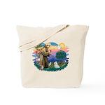 St Francis #2 / Maltese (#7) Tote Bag