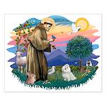 St Francis #2 / Maltese (#7) Small Poster