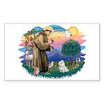 St Francis #2 / Maltese (#7) Sticker (Rectangle 10