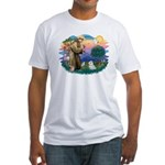 St Francis #2 / Maltese (#7) Fitted T-Shirt