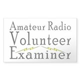 Amateur Radio VE Rectangle Decal