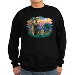 St. Fran #2/ German Shepherd (P) Sweatshirt (dark)