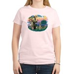 St. Fran #2/ German Shepherd (P) Women's Light T-S