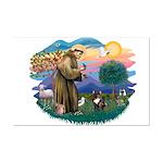 St Francis #2/ Fr Bulldog (brin) Mini Poster Print