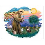 St Francis #2/ Fr Bulldog (brin) Small Poster