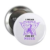 "I Wear Purple for My Niece 2.25"" Button"