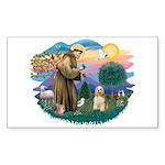St. Fran #2/ Cocker Spaniel (#10) Sticker (Rectang