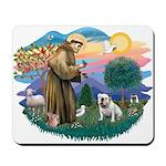 St. Fran #2/ English Bulldog (W) Mousepad