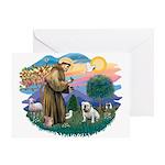 St. Fran #2/ English Bulldog (W) Greeting Card