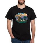 St. Fran #2/ English Bulldog (W) Dark T-Shirt